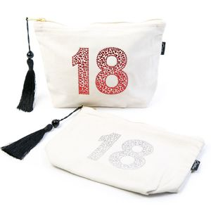 18th Birthday Make Up Bag - winter sale