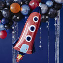 Space Themed Party Rocket Foil Balloon