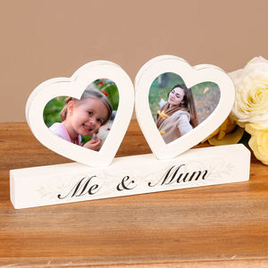 'Me And Mum' Twin Hearts Photo Frame
