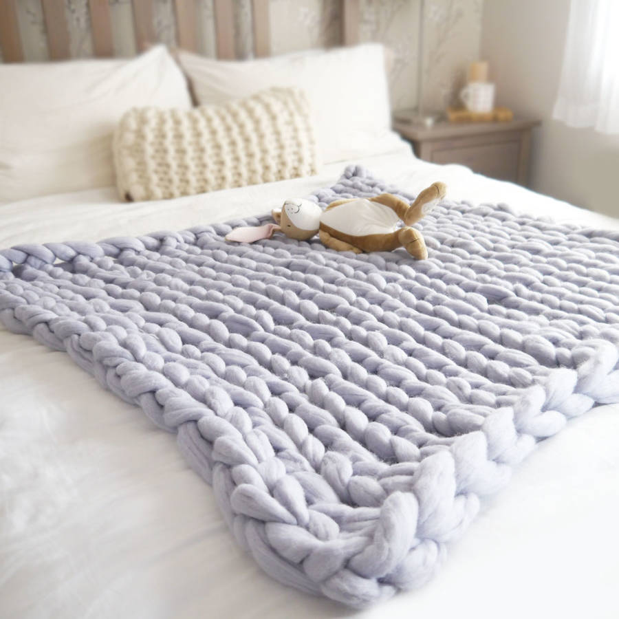 Chunky Knitted Baby Blankets super chunky knit baby...