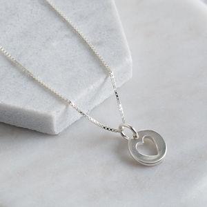 Sterling Silver Dainty Heart Cut Out Pendant - women's jewellery