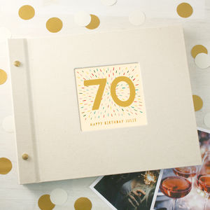 Personalised 70th Birthday Photo Album - photo albums