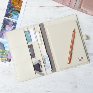 Personalised Wedding Organiser With Notebook - engagement gifts