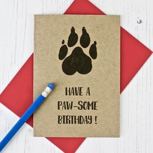 Dog Lovers Birthday Card - black friday sale