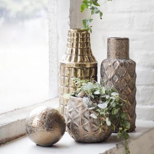 Gold Or Copper Plant Pot Or Vase
