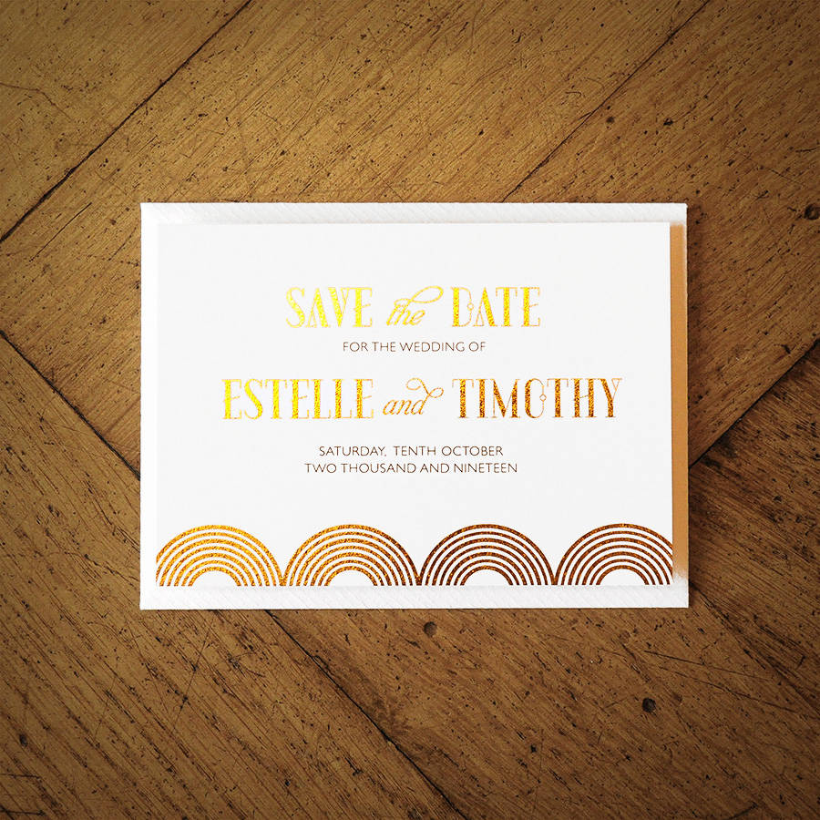 Great Gatsby Wedding Invitation By Feel Good Wedding Invitations Notonthehi