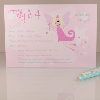 Fairy Party Personalised Party Invite