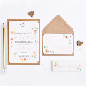 Bright Floral Bundle Wedding Invitation Bundle - what's new