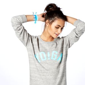Yo!Ga Sweatshirt, Grey And Aqua - women's fashion