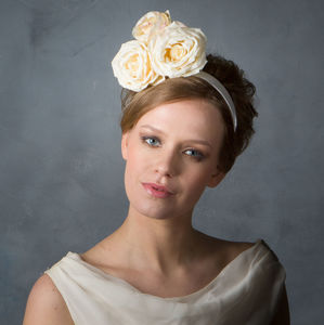 Cute 'Shabby Chic' Rose Bride Headband