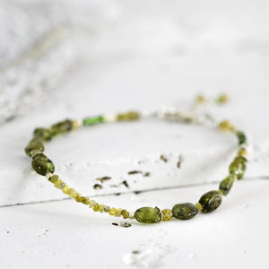 Peridot And Yellow Diamond Bracelet - bracelets & bangles