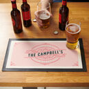 Personalised Drinks Bar Runner