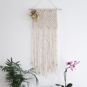 Chevron Macrame Wall Hanging