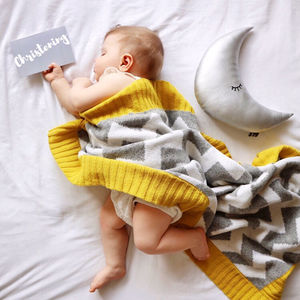 Chevron Baby Blanket And Cushion Gift Set - dreamland nursery