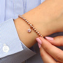 18ct Rose Gold Birthstone Charm Bracelet