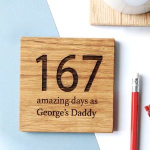 Personalised 'Days As Your' Coaster - gifts under £25