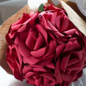 Half A Dozen Paper Rose Bouquet - faux flowers