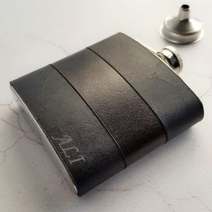 Customised Leather Hip Flask - hip flasks