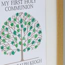 Personalised First Holy Communion Fingerprint Tree