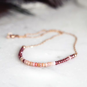 Pink Opal Necklace - necklaces & pendants