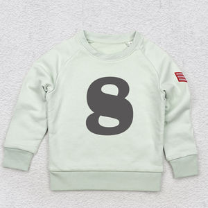 Age Eight Sweatshirt Pink, Blue Or Neutral
