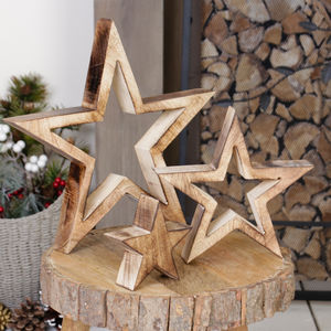 Personalised Set Of Three Nesting Star Ornaments - centrepieces