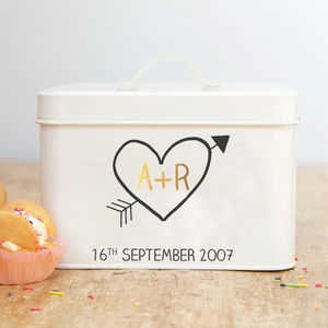 Personalised 10th Wedding Anniversary Tin - kitchen
