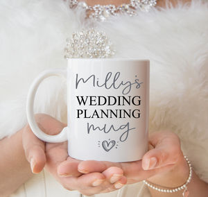 Bride's Personalised Wedding Planning Mug