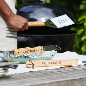 Bbq Tool Set With Quotes
