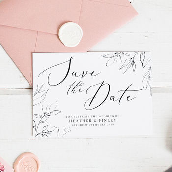 Dainty Romance Save The Date