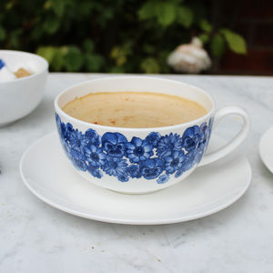 'Floral' Breakfast Cup And Saucer - tableware
