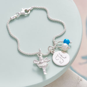 Fairy Godmother Charm Bracelet With Birthstones