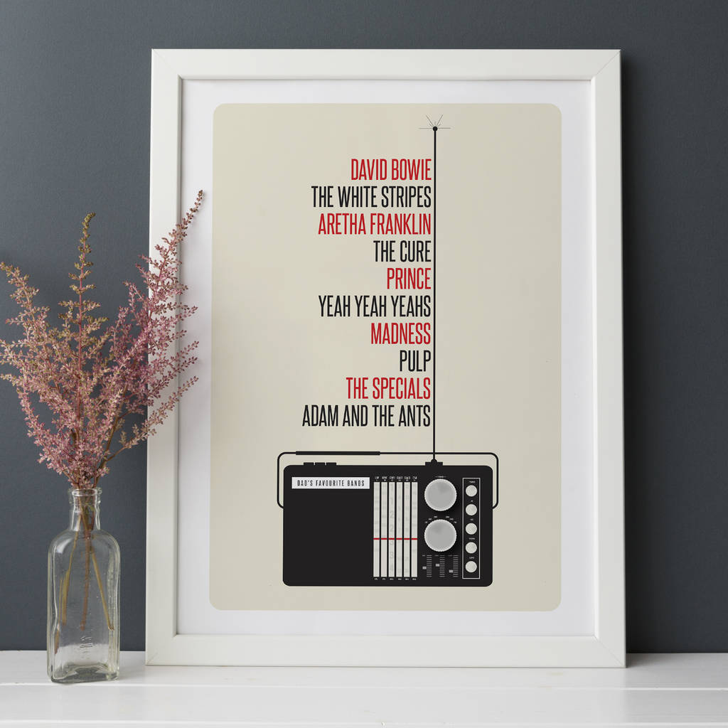 Personalised Favourite Music Print