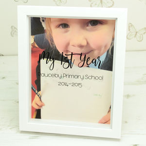 Personalised School Photo Box Frame