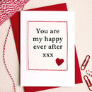 'Happy Ever After' Handmade Anniversary Card