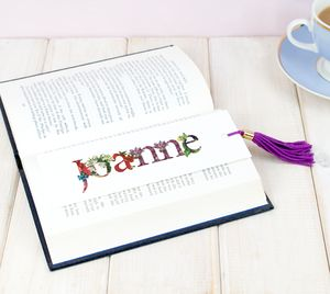 Personalised Floral Bookmark For Her - personalised