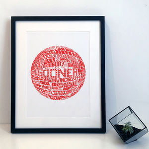 Arsenal Football Club Typography Print - typography