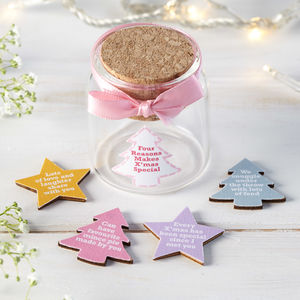 Personalised Christmas Tokens In Bottle - snow globes & ornaments
