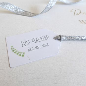 Just Married Wedding Favour Tags