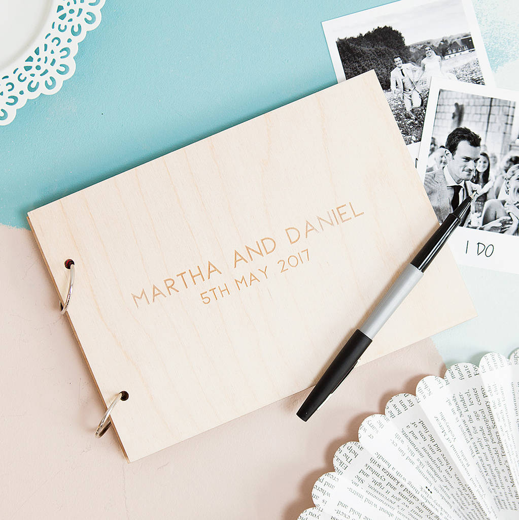 Personalised Minimalist Wedding Photo Album