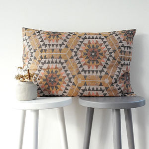 Honeycomb Patterned Cotton Cushion - winter sale