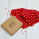 Love Heart Double Sided Personalised Handkerchief