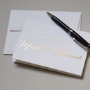 'Will You Be My Maid Of Honour' Gold Foil Card