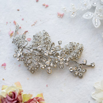 Crystal Chunky Two Stone Crystal Brooch