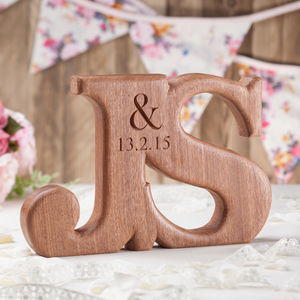 Wedding Gift Carved Letters