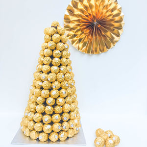 Ferrero Rocher Tower Chocolate Centre Piece - christmas food & drink