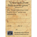 'From Little Acorns' Christening Spoon Personalised
