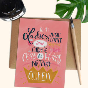 Birthday Queen Card - birthday cards