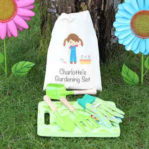 Girls Gardening Set With Personalised Bag - best gifts for girls