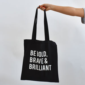'Bold, Brave And Brilliant' Tote Bag - womens